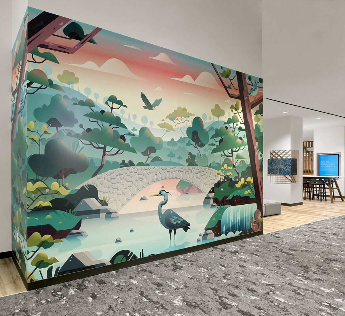 Uber Greenlight Hubs Childrens' Murals on Pantone Canvas Gallery