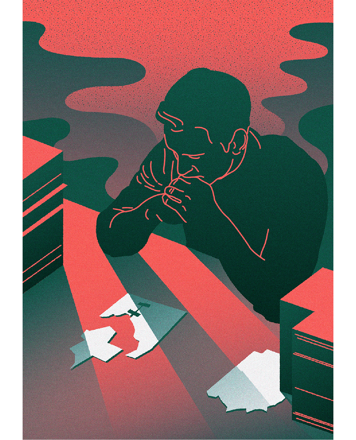 ILLUSTRATION  press colour vector polish illustration magazine Editorial Illustration press illustration web illustration artur denys