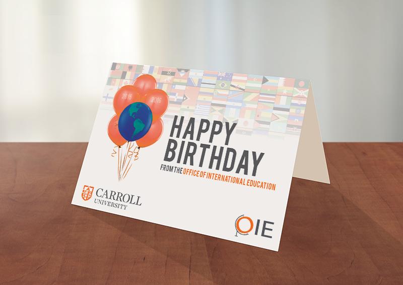 Birthday Card Design Carroll University Oie On Behance