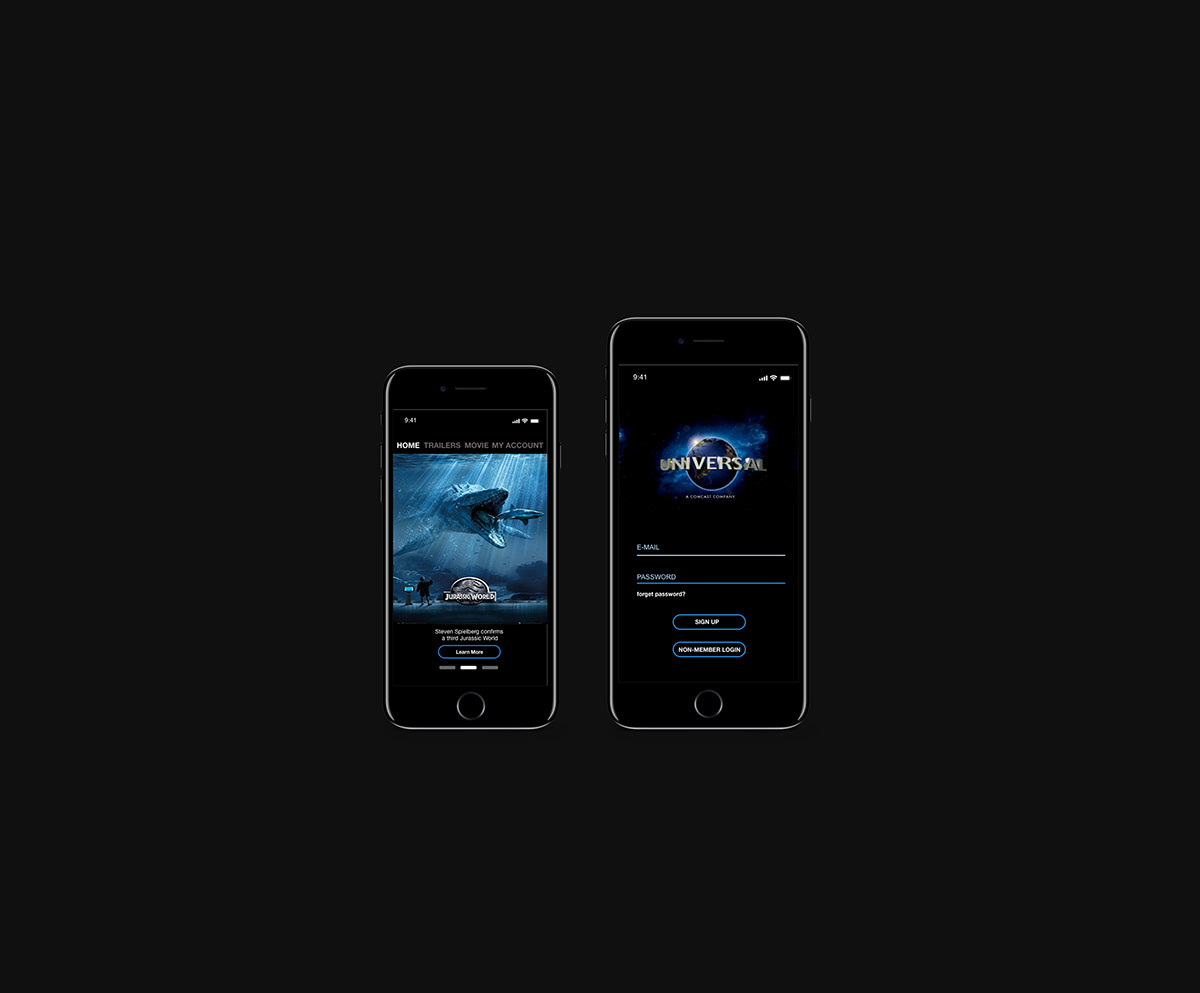 Universal Studio Movie App on Behance