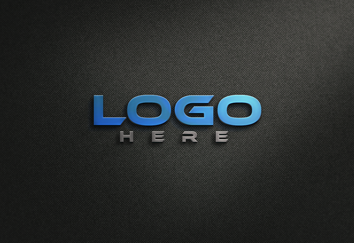 Metallic Logo Mockup Free Download on Behance