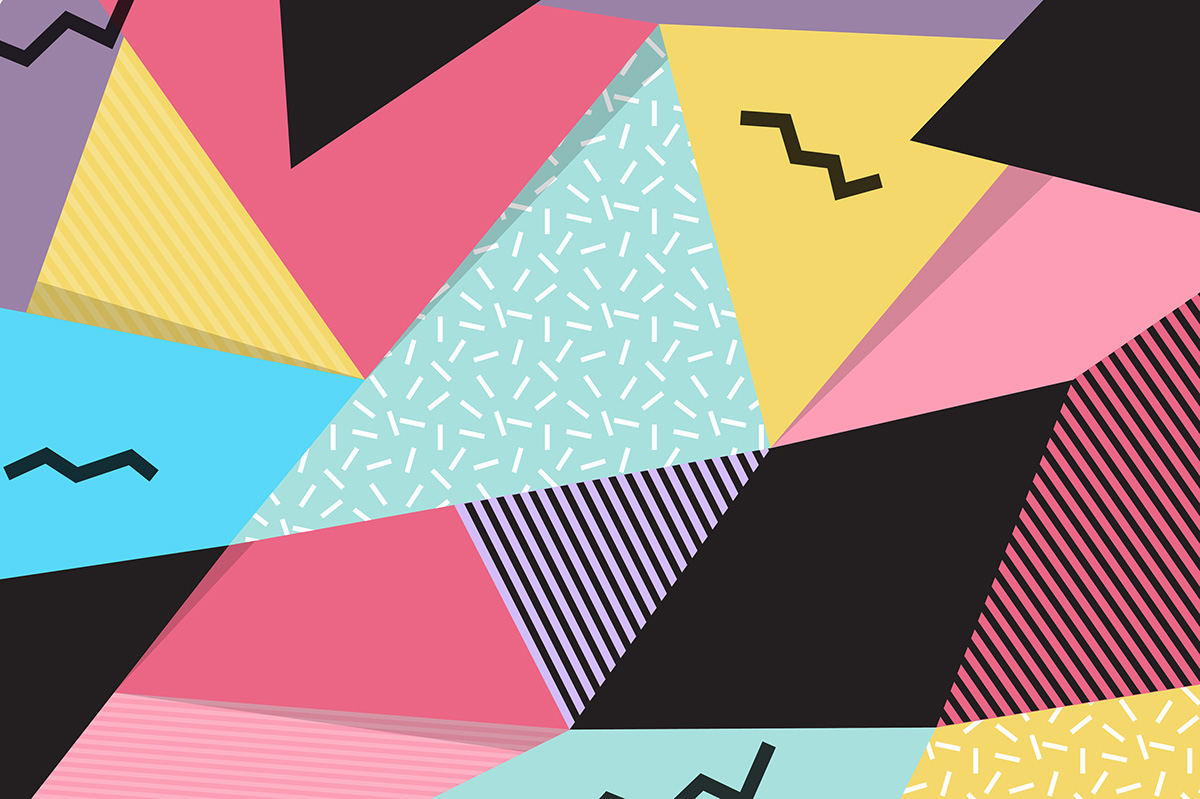 memphis geometric background on behance
