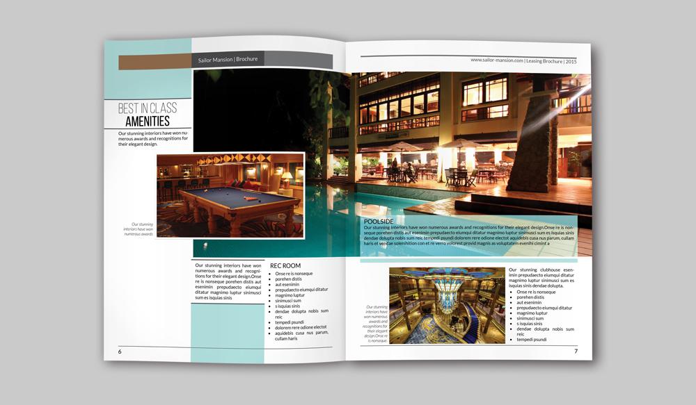 luxury brochure template - luxury residence brochure indesign template on behance