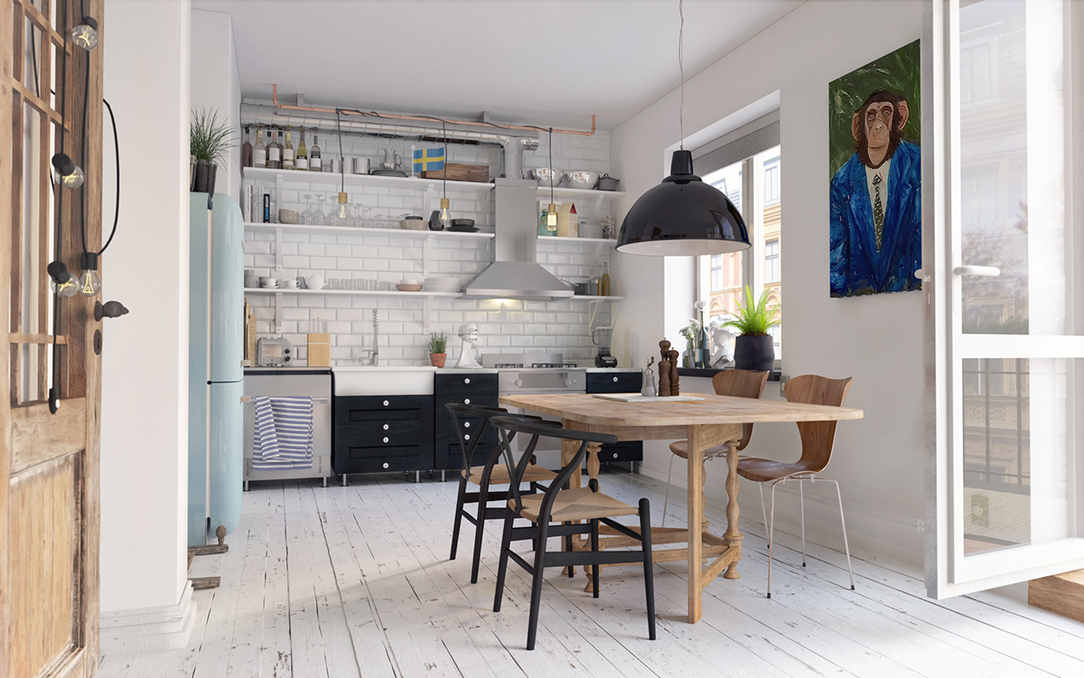 Cozy Scandinavian Interior In Gothenberg Free 3d Model On Behance