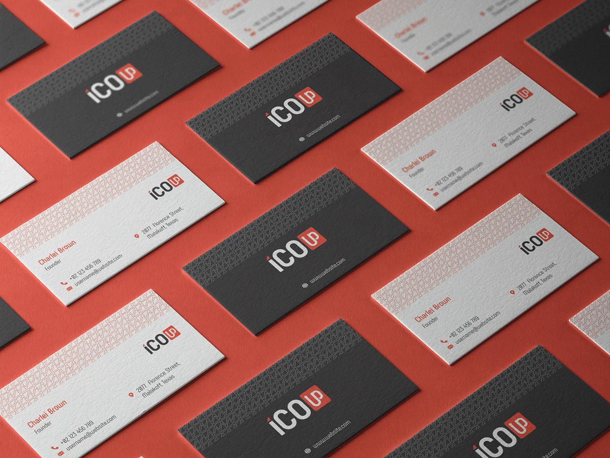 black brand business card grey ID identity letterhead red White