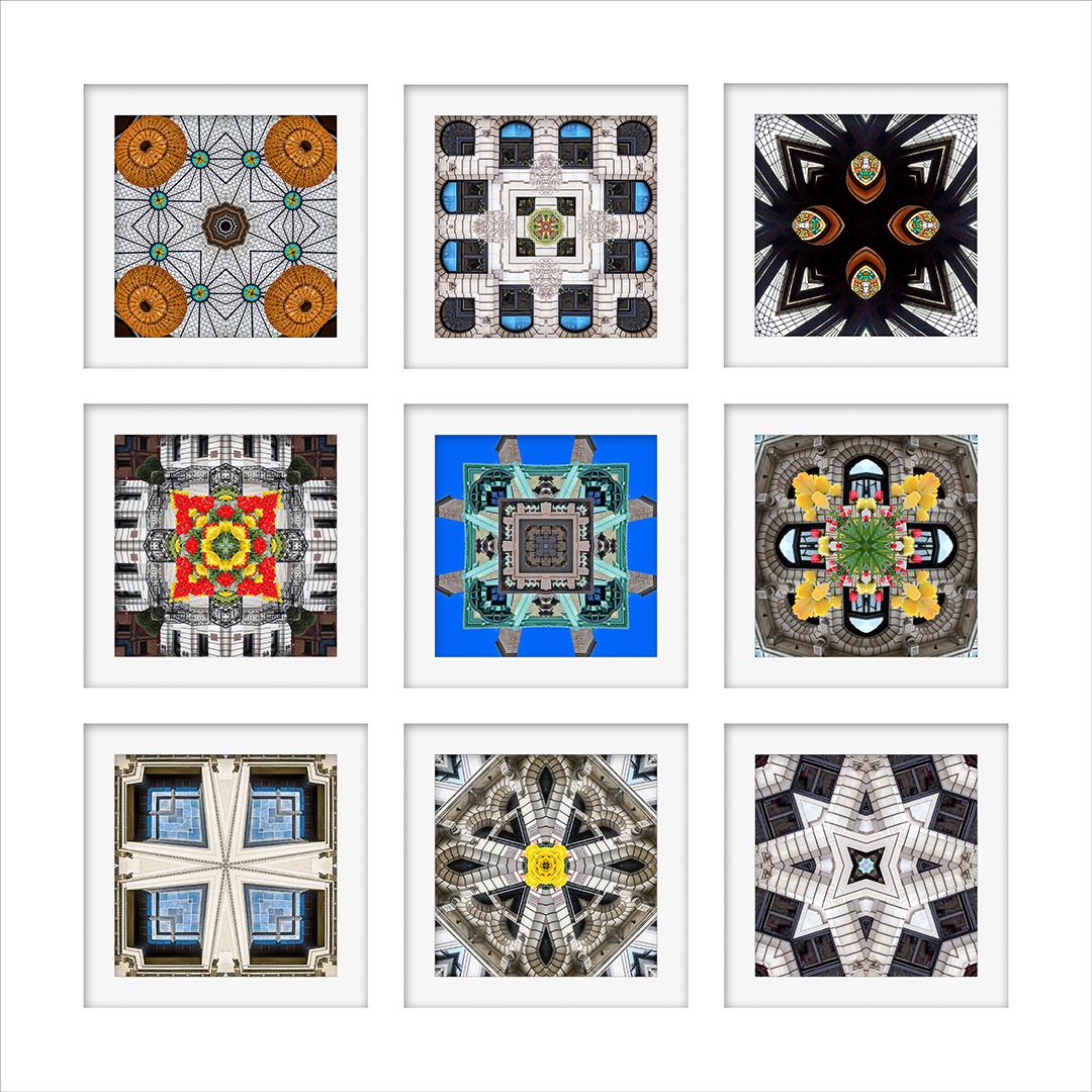 photomontage fragments mosaics kaleidoscope neco back bay boston Photo Manipulation