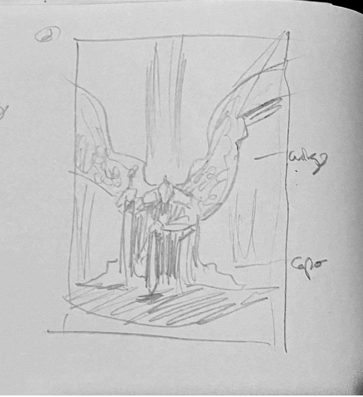 angel archangel comic commission ILLUSTRATION  inking