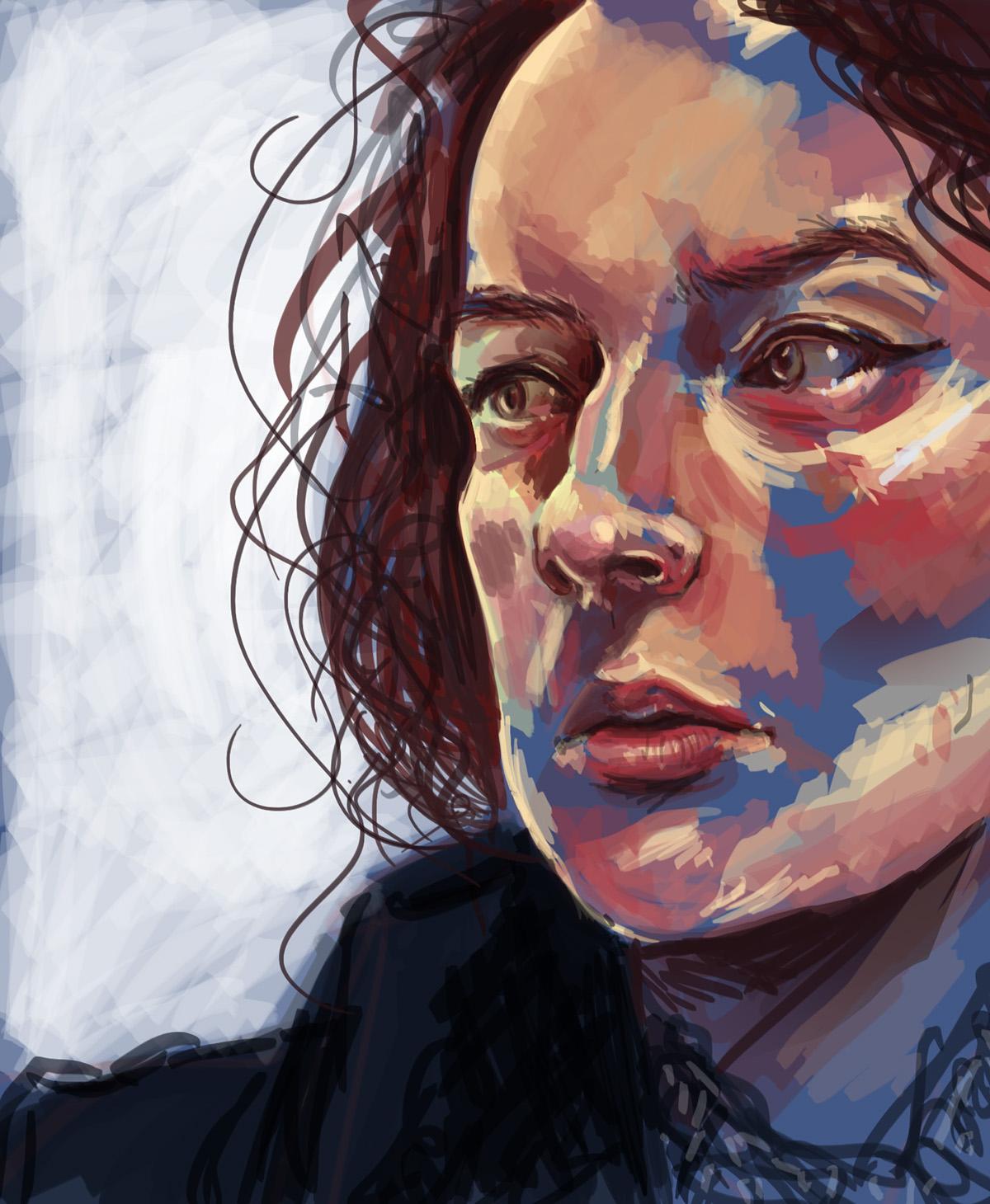 self portrait portrait digital colour
