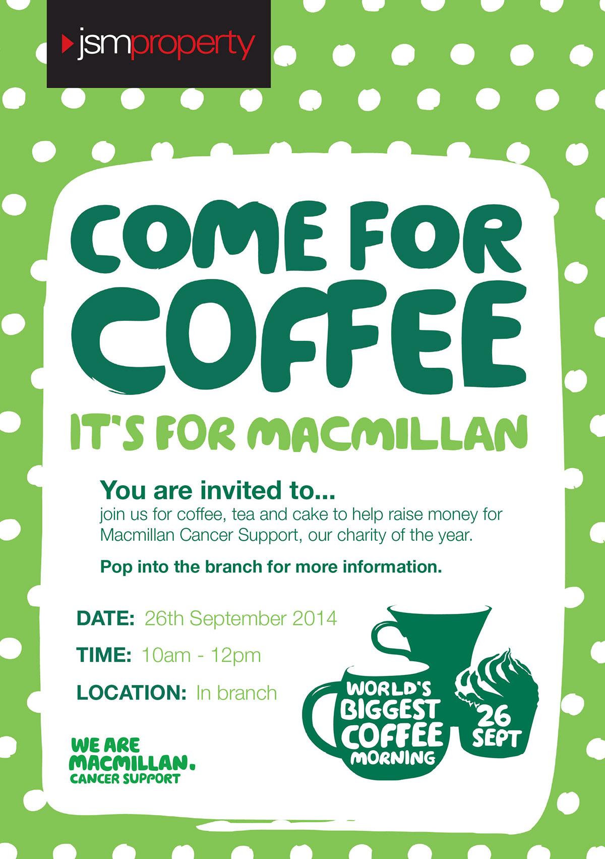 Jsm Macmillan Coffee Morning On Behance