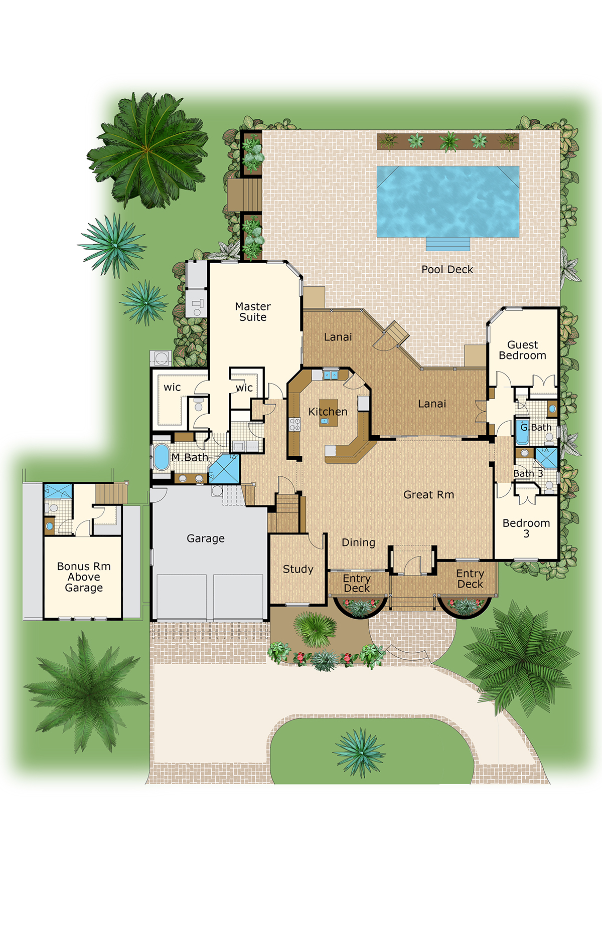 Color floor plan and brochure samples on behance for Sample home floor plans