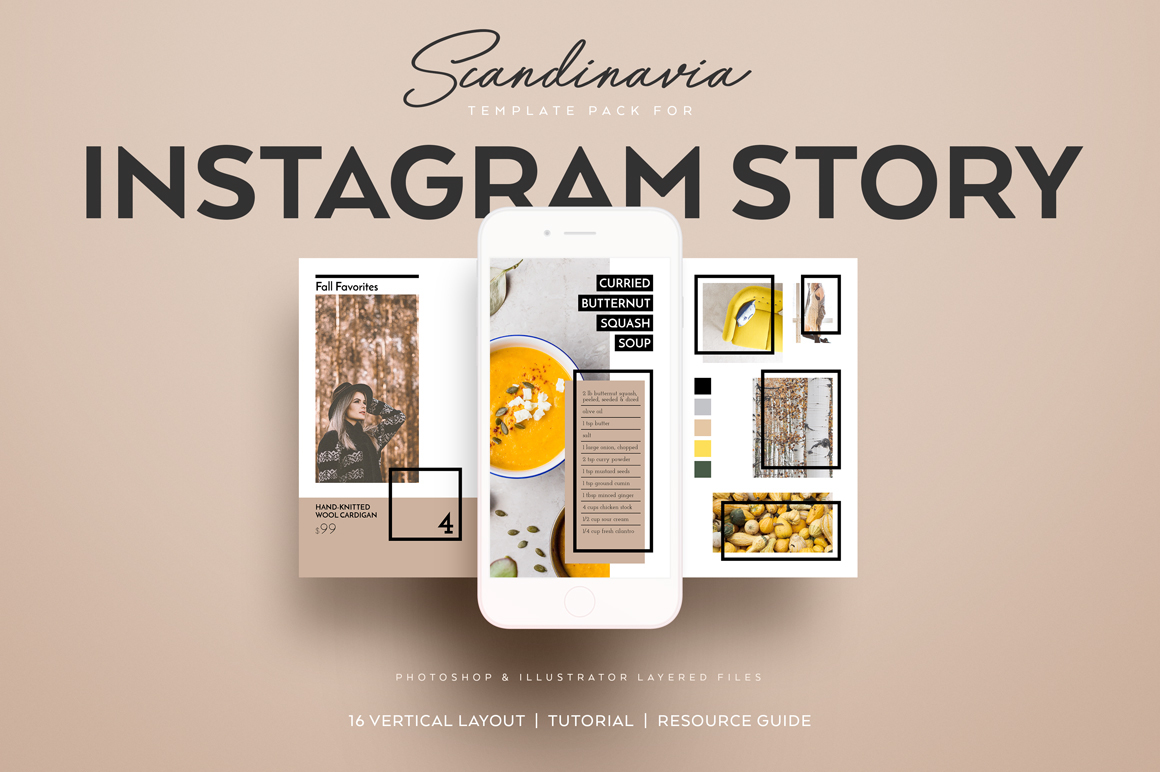 Scandinavia Instagram Story Template Pack On Behance - Instagram ad template