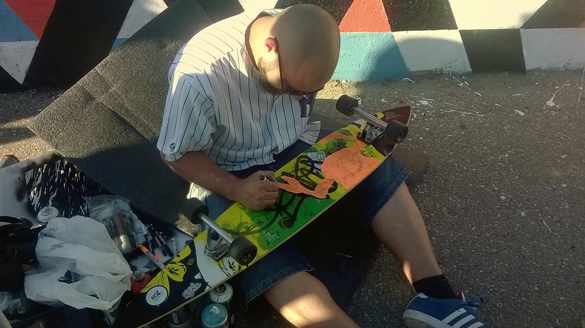 skate skateboarding Posca markers edding posca markers