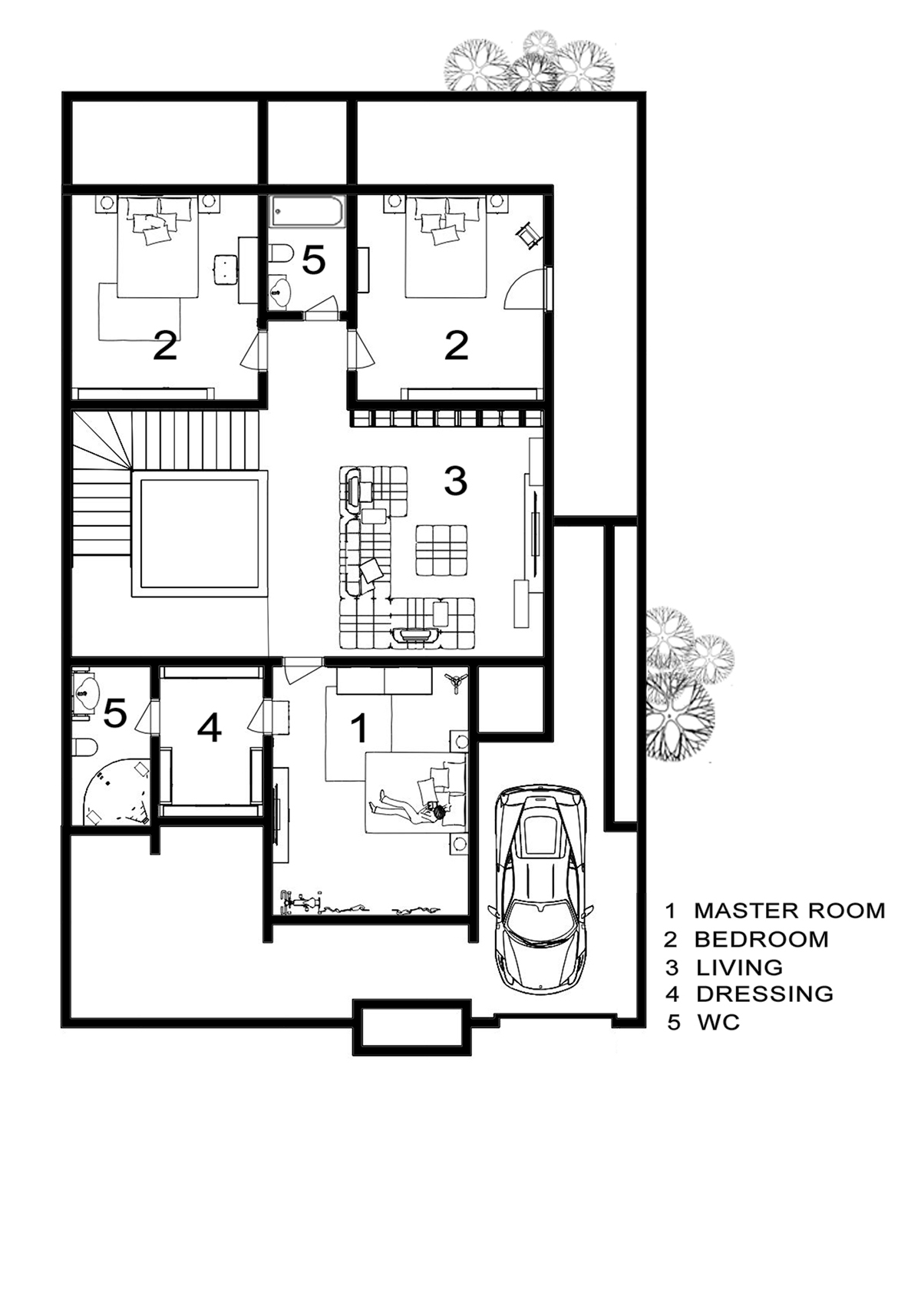 Villa duplex on behance for House map drawing