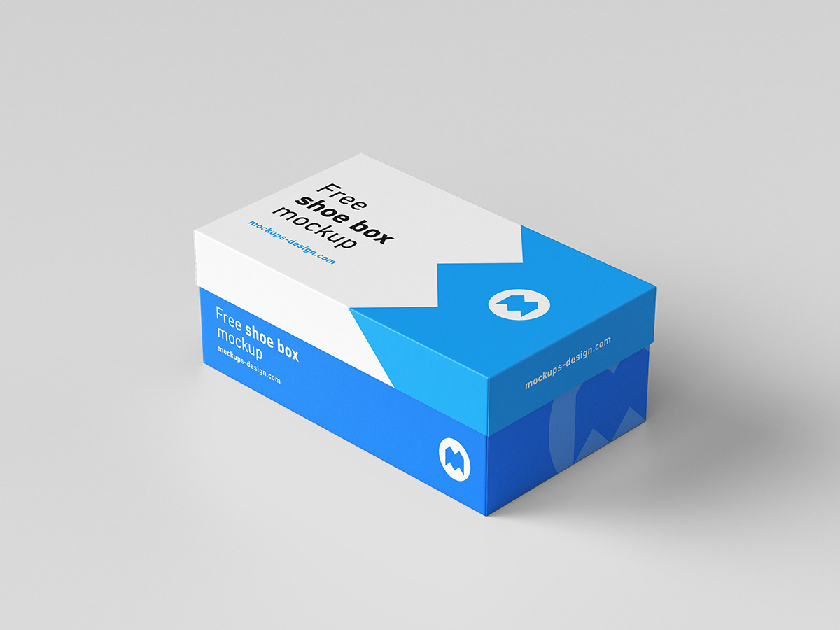free shoe box mockup on behance