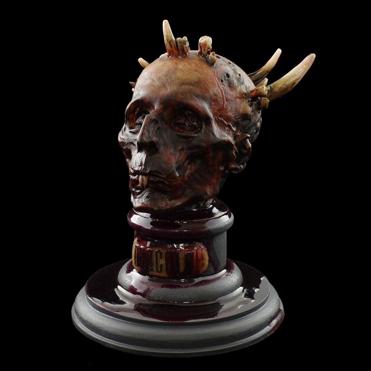 dracula horror sculpture