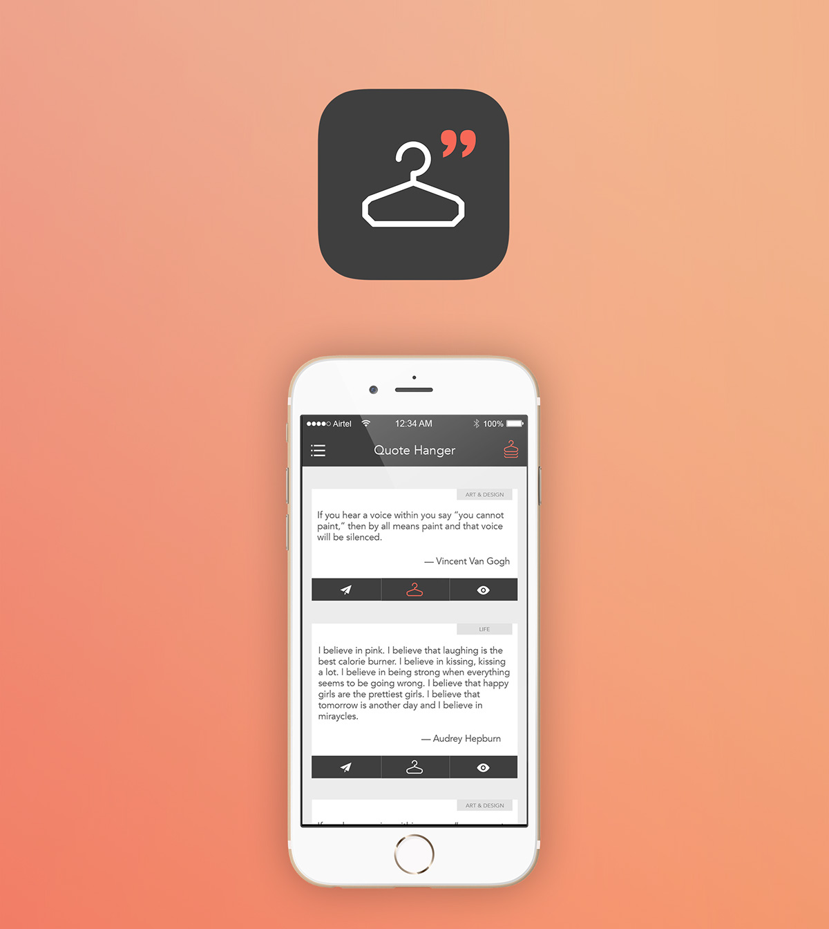 Quote Hanger Mobile App Ui Ux And Animation On Student Show