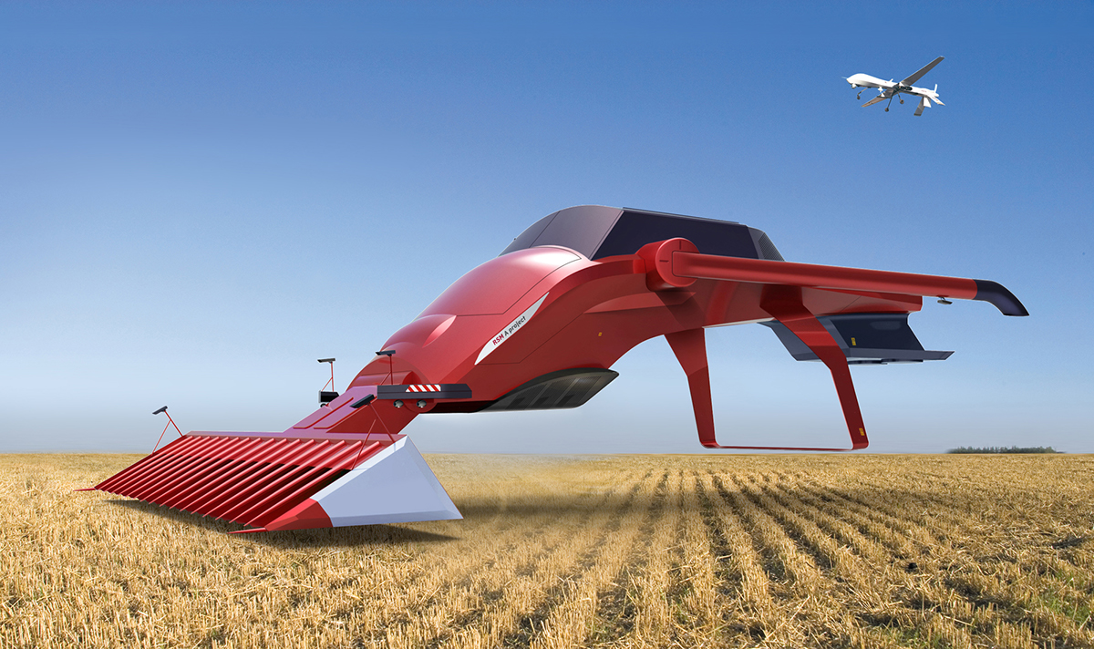 Concept Of The Future Harvester Combine On Behance