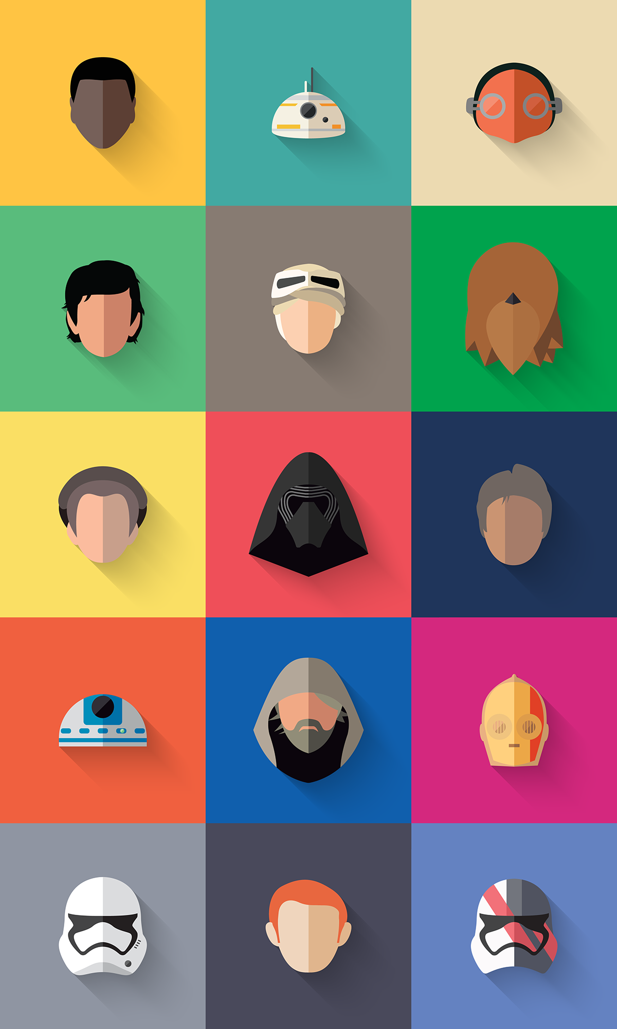 Character Design Icon : Star wars the flat awakens on wacom gallery