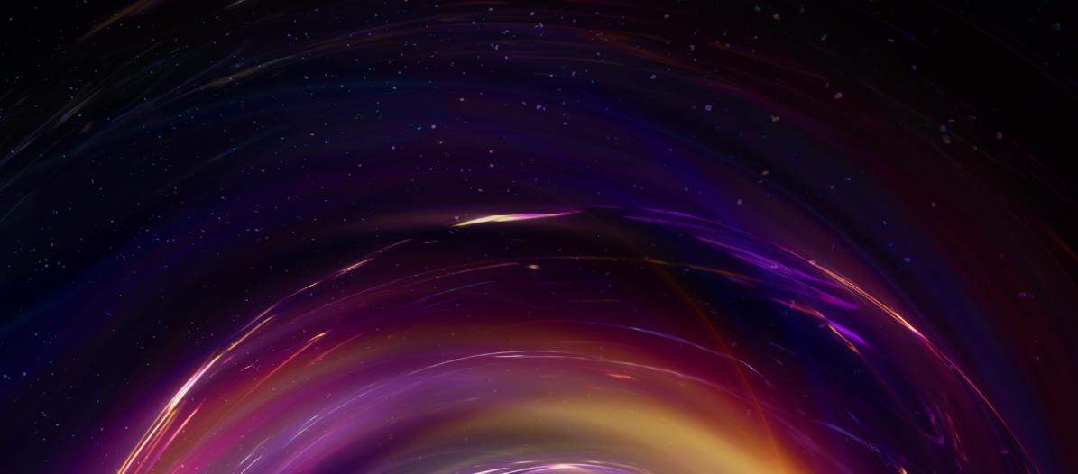 abstract art digital deer Space  3D Colourful