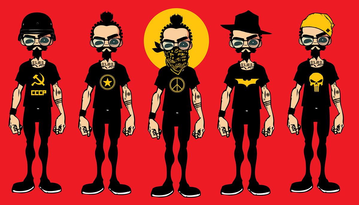 Aly bchennaty  alma cccp batman skulls red Beirut lebanon tattoo gangsta peace hippies revolution resistenza OBEY