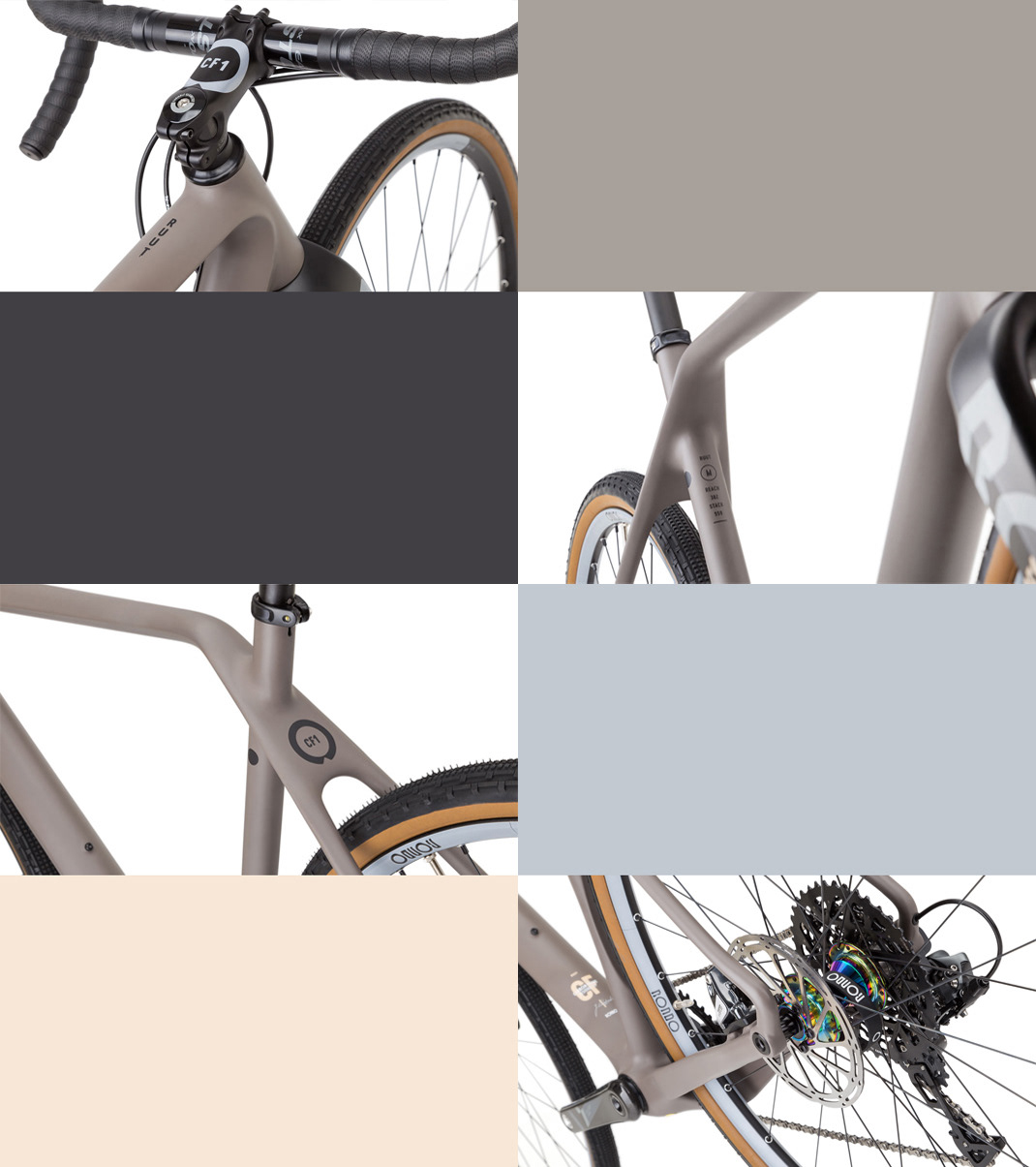 Bike gravel color scheme Vizualization