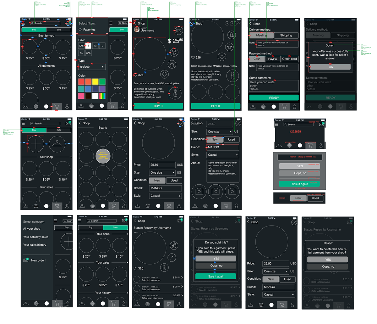 UI android ios
