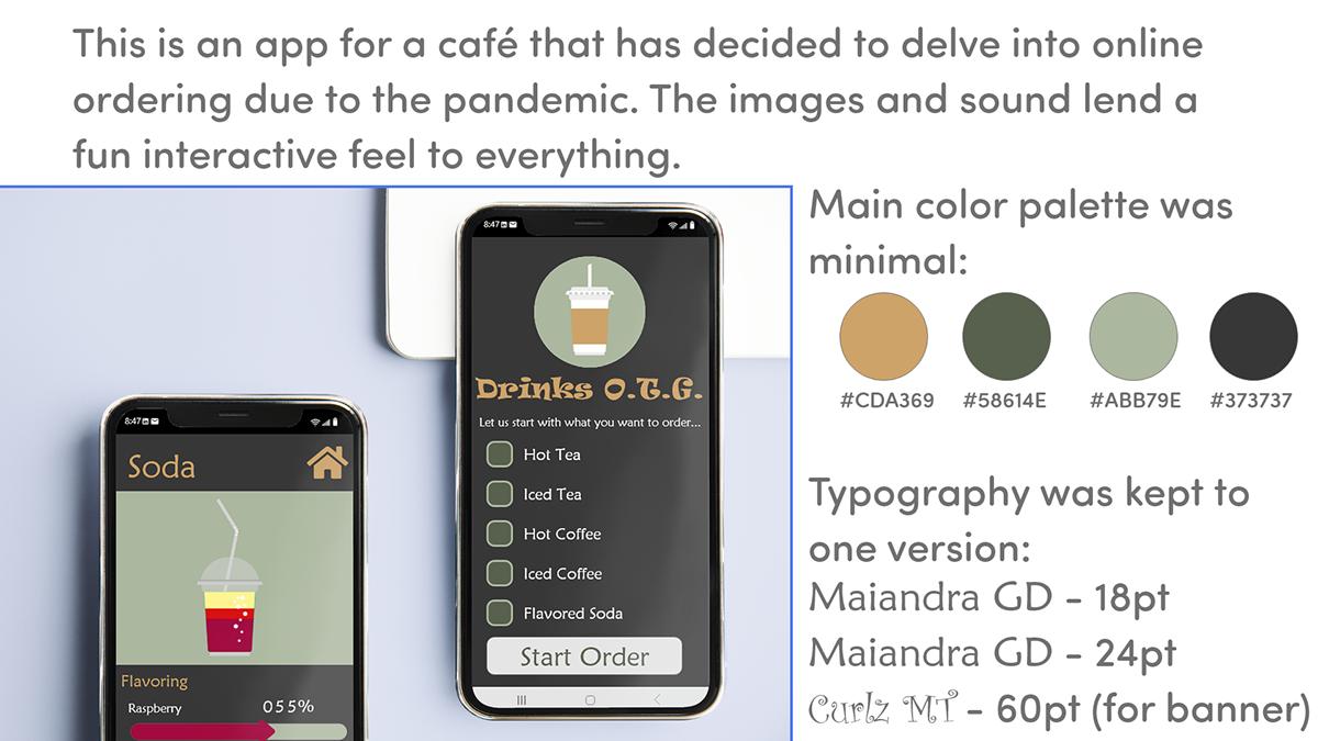 auto-animation brown Coffee tea UI/UX XDDCChallenge