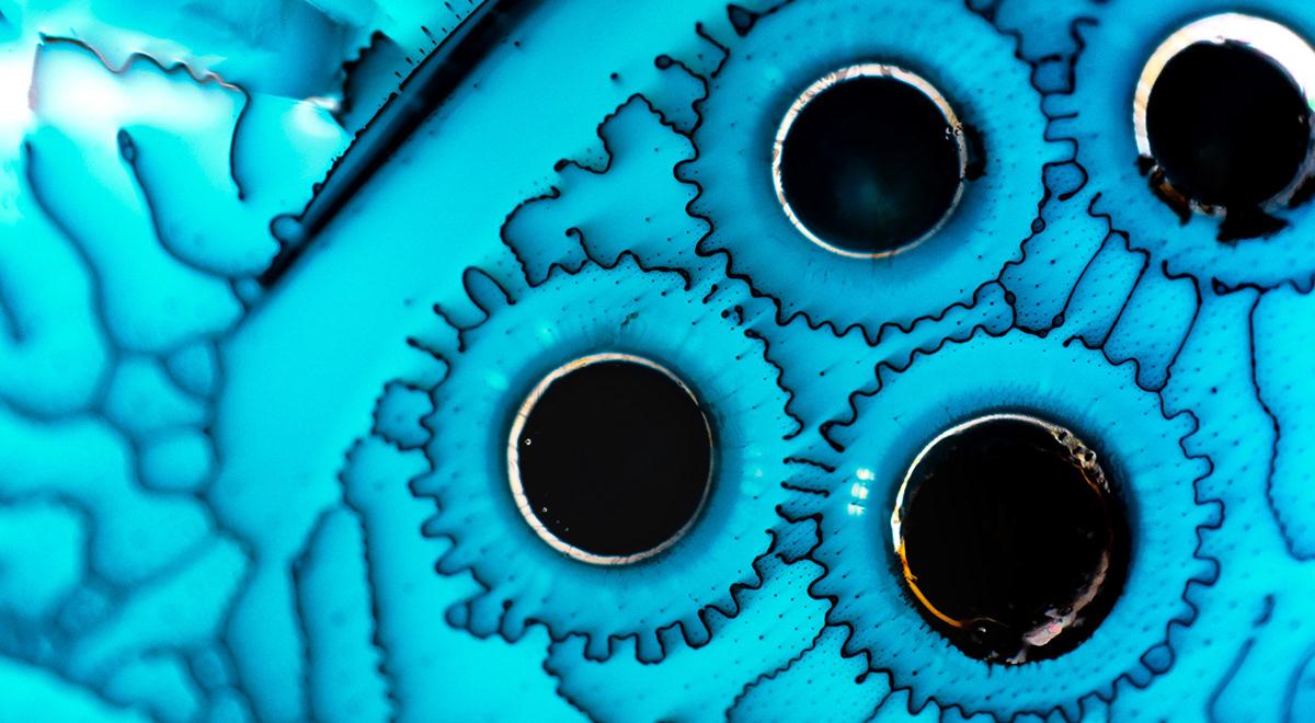 abstract photography art ferrofluid Macro Photography microscope Nikon science scientific photography seattle wa Washington