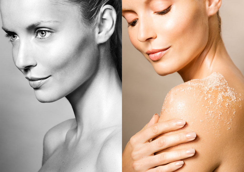 beauty model skin nude skincare Fragrance makeup body face natural clean studio commercial Conception anti-aging