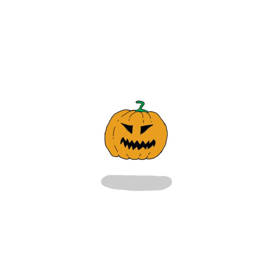 Image may contain: cartoon, fruit and pumpkin