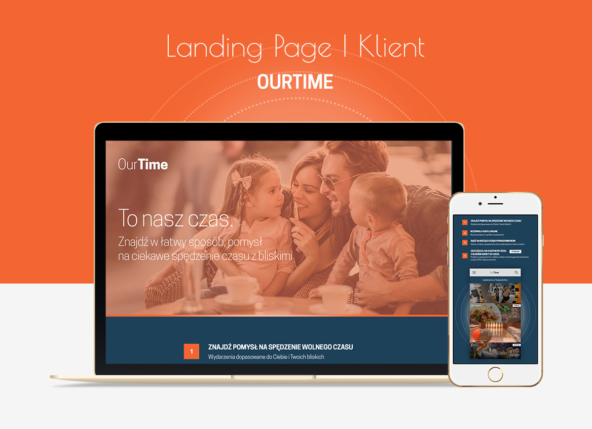 OurTime - Landing page