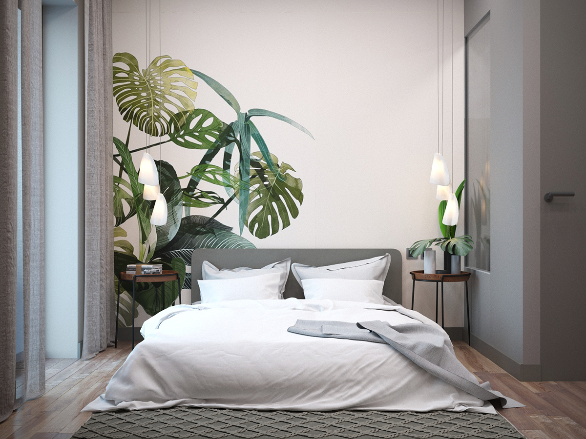 Vegetative bedroom on Behance