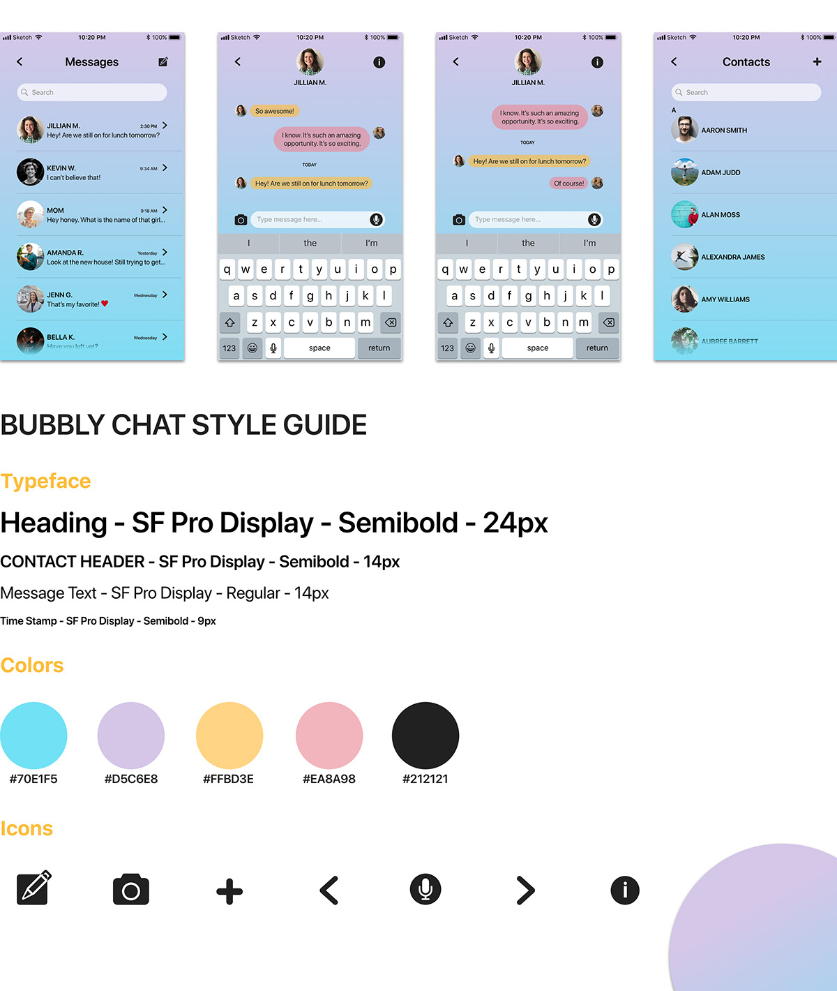 bubbly chat on behance