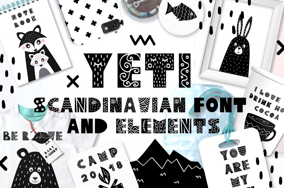 font Scandinavian folk funny kids child poster Scandinavian style scandinavian font Scandinavian design rustic Interior interior design  typography