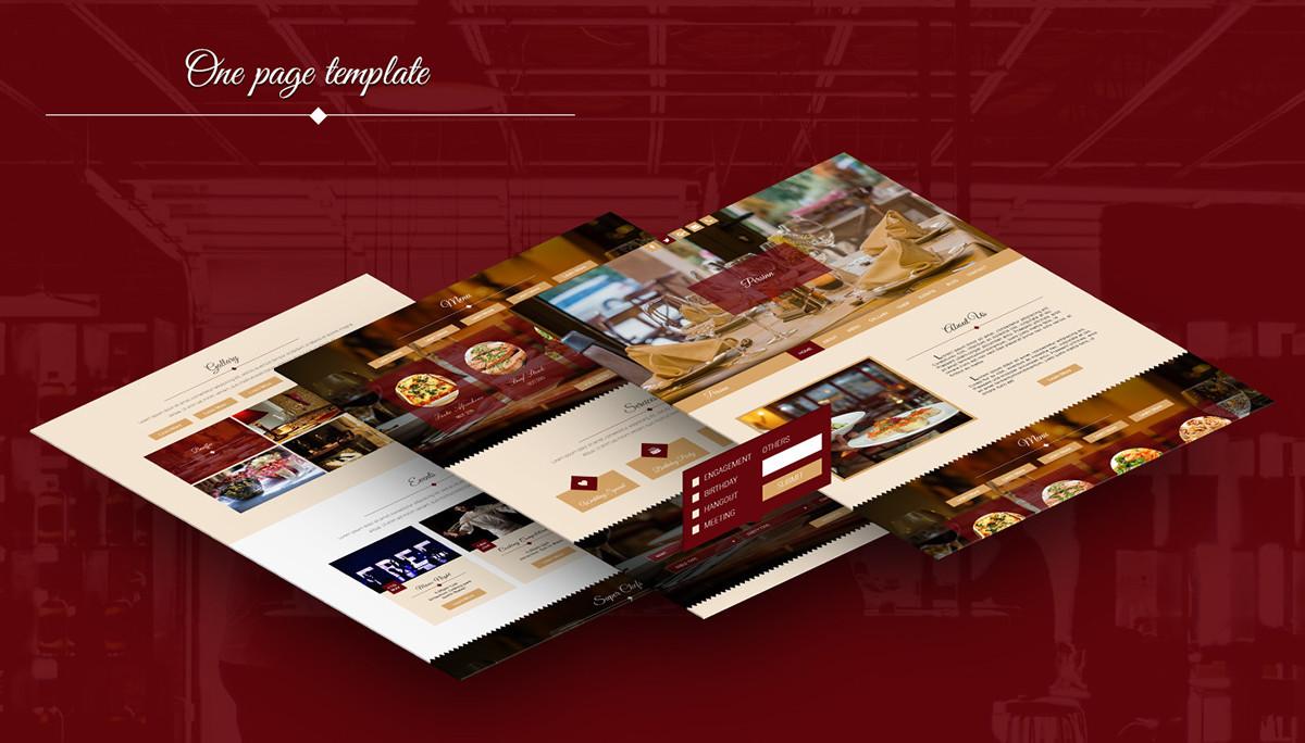 Persinn A Complete Web Template For Restaurants On Pantone Canvas