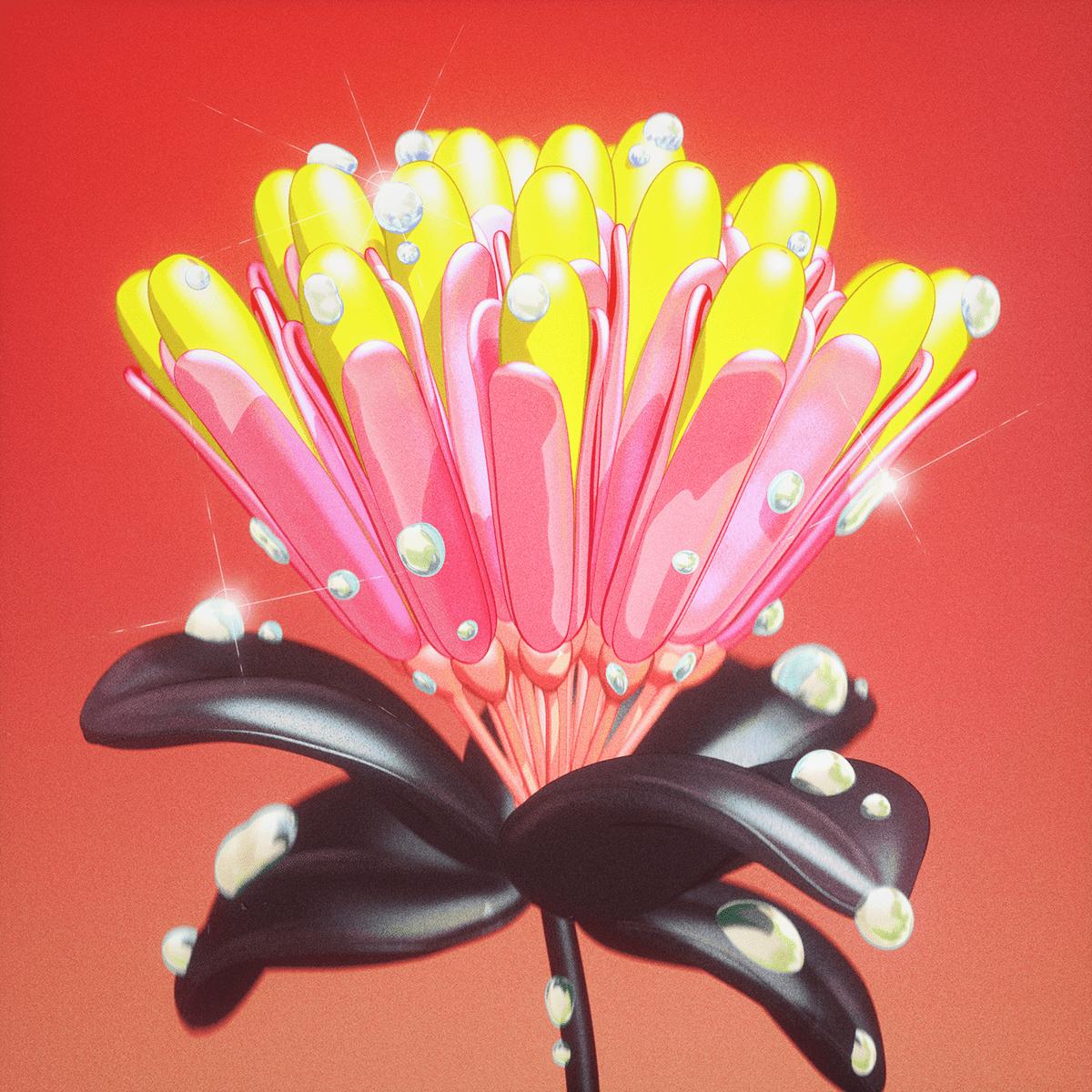 3d art Character coloful concept art Digital Art  flower motion graphics  toy design
