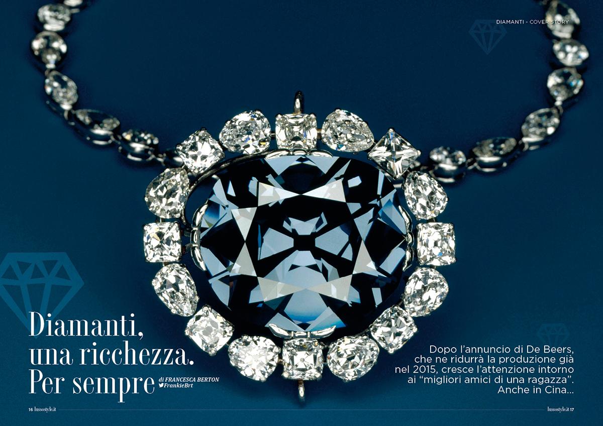 Lusso Style#26 Giugno2015 illustrazione editoria grafica editoriale coverjunkie diamanti diamonds
