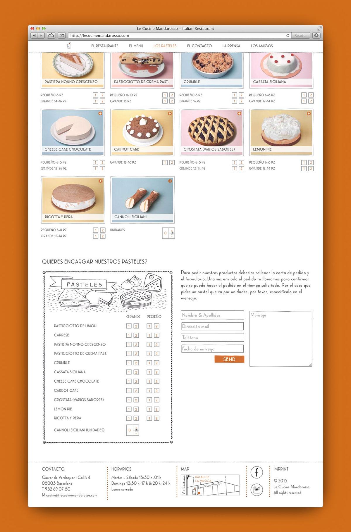 Webdesign Responsive restaurant Website Project Management