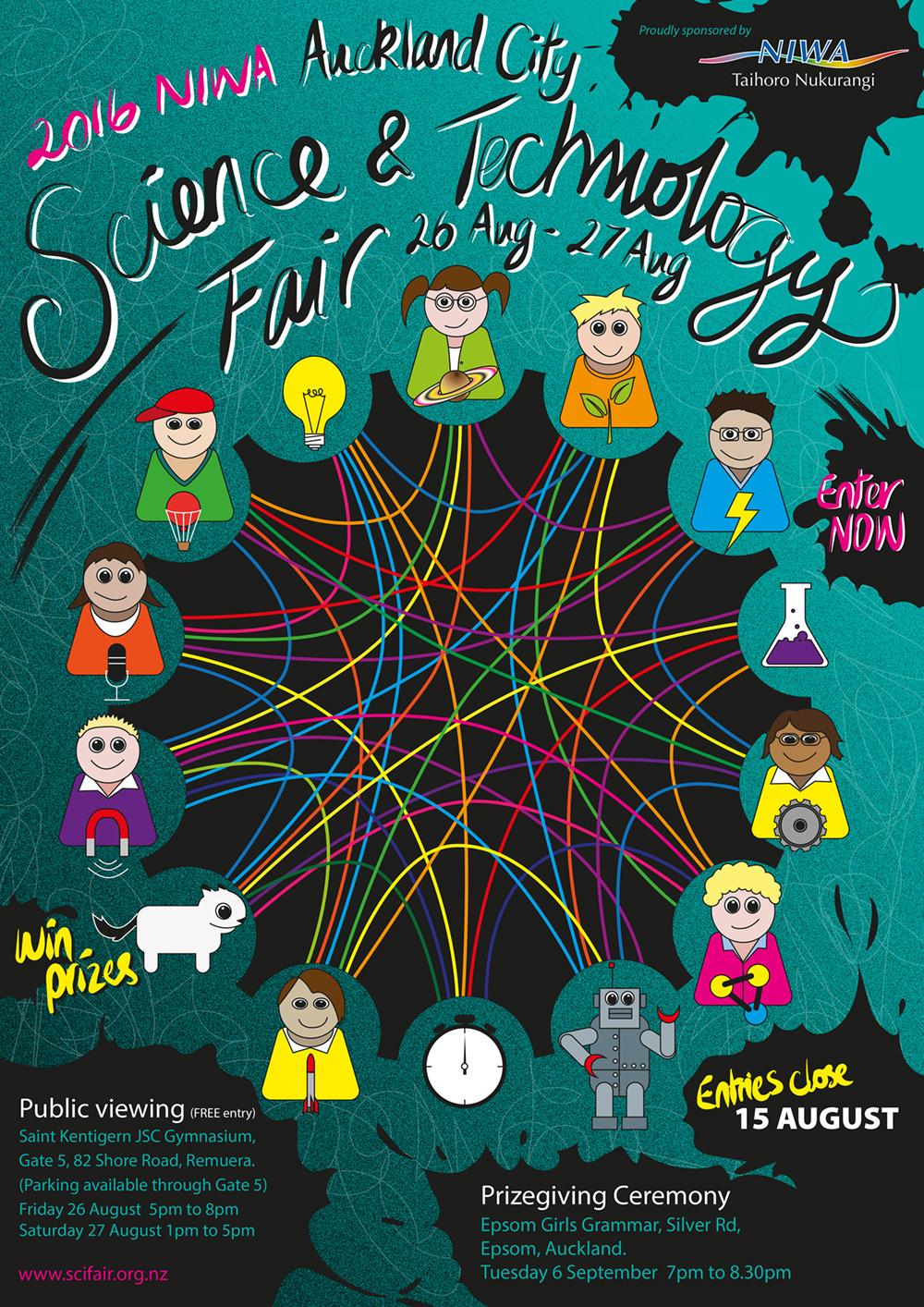science technology posters fair behance niwa