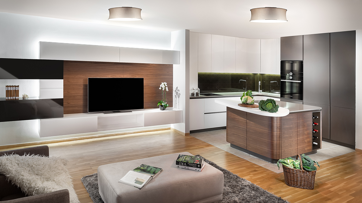 Interior kitchen living room furniture light painting light composing furniture photography furniture campaign catalog design