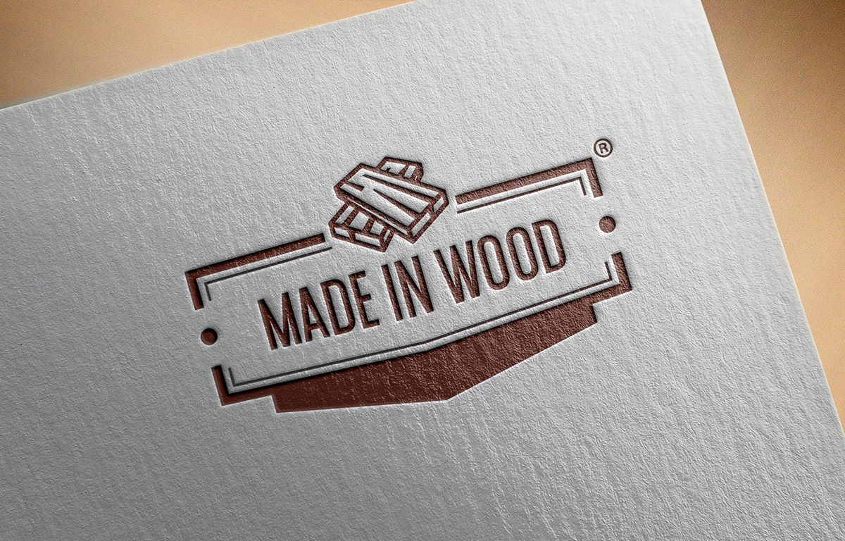 made in wood logo design on behance. Black Bedroom Furniture Sets. Home Design Ideas