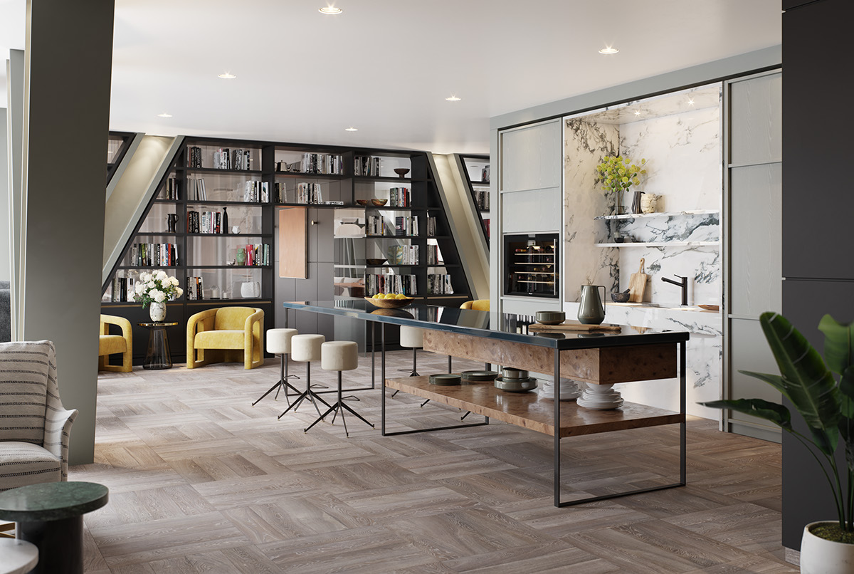 Interior Design - Studio Ashby. Architecture - Kohn Pedersen Fox