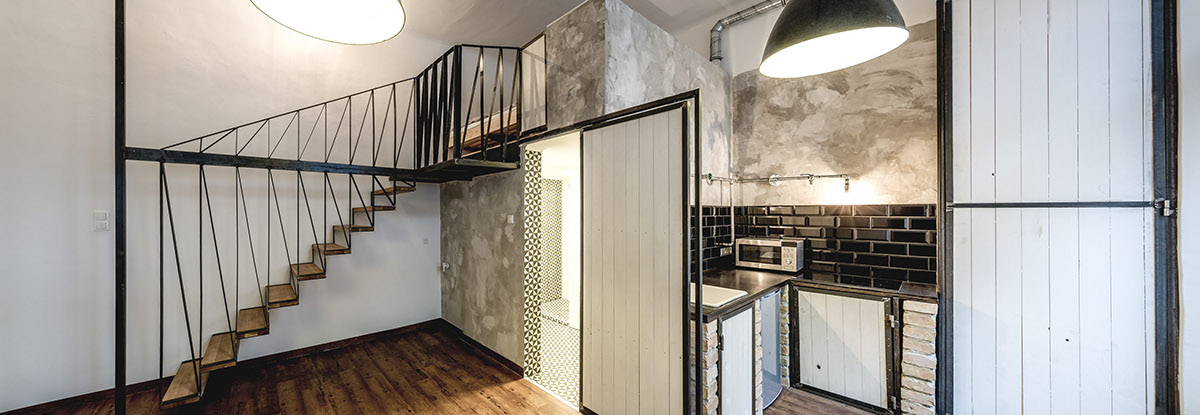 THE HANGING STAIRS // AIRBNB APARTMENT DESIGN // 2015 On Behance