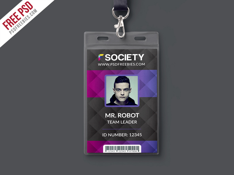 Free Psd : Corporate Office Id Card Psd Template On Behance
