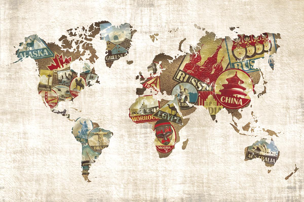 Well Traveled Map On Behance - Map of where i traveled