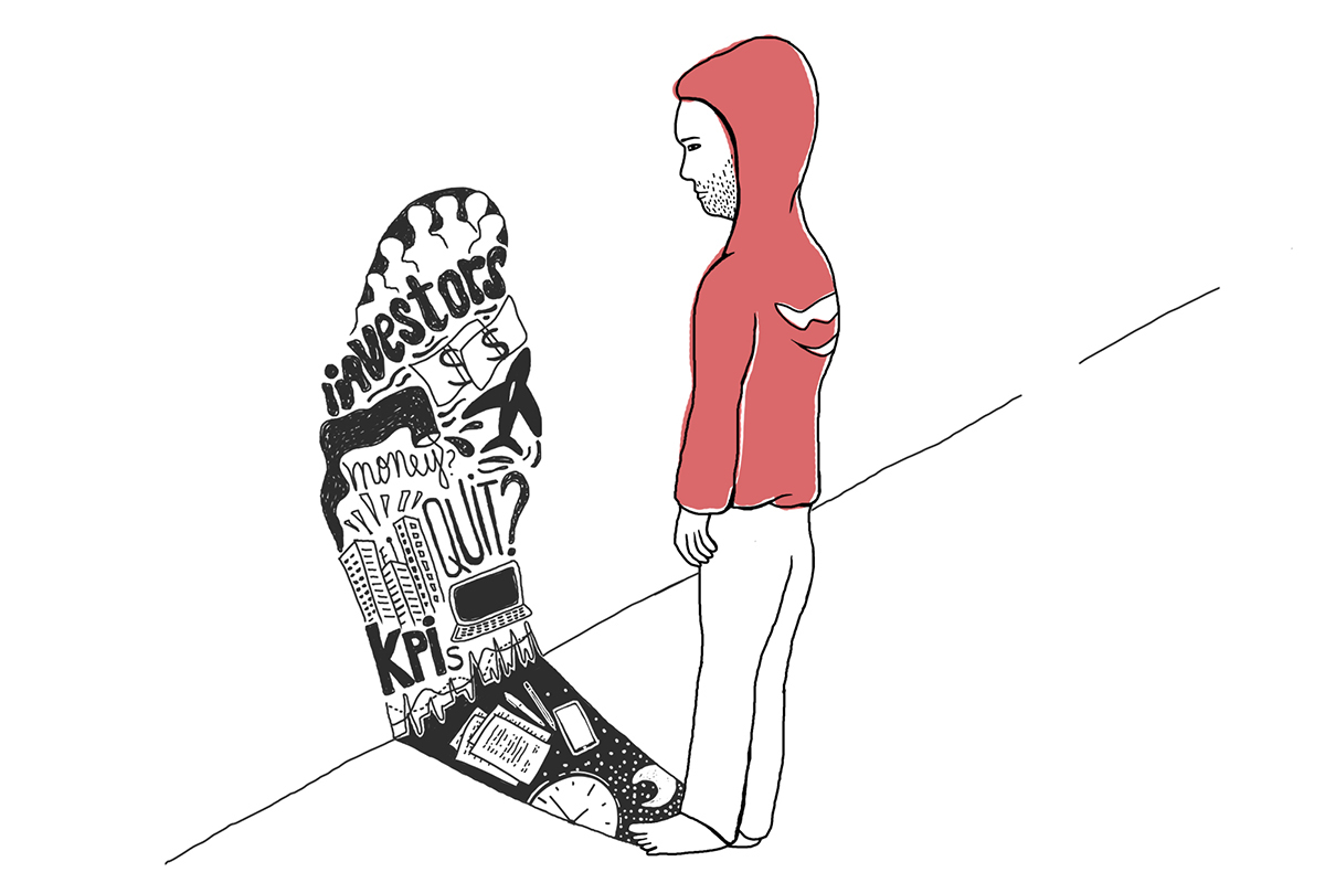 Editorial Illustration entrepreneur startup illustration entrepreneur struggle mavenhut illustration startup culture entrepreneur raising money
