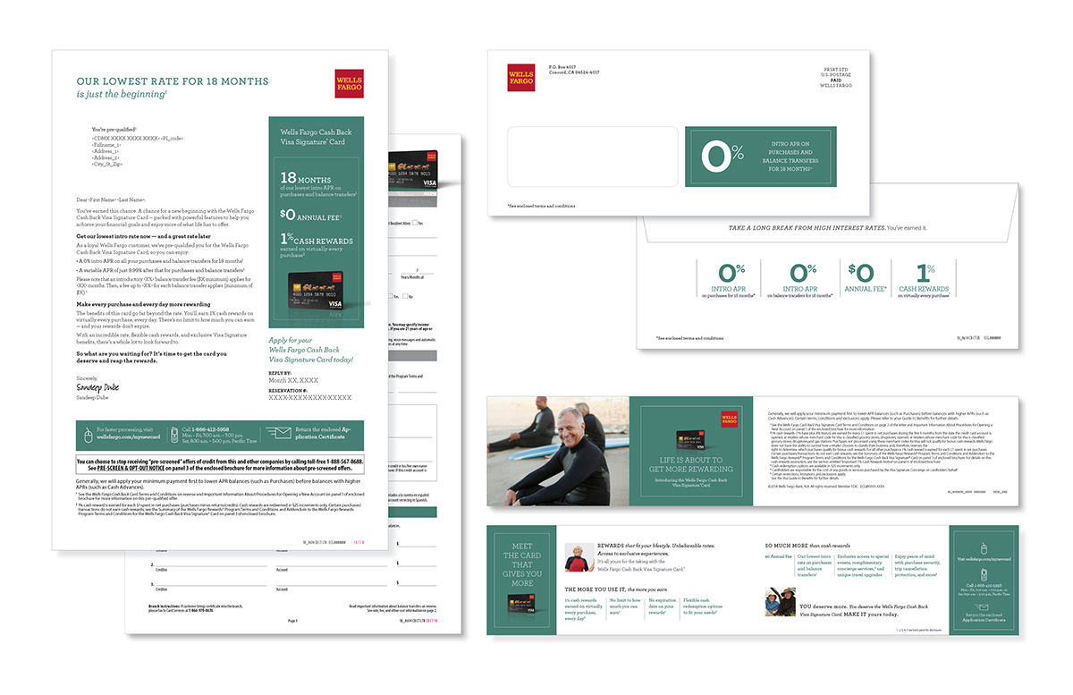 Wells Fargo Credit Card DM Packages on Behance