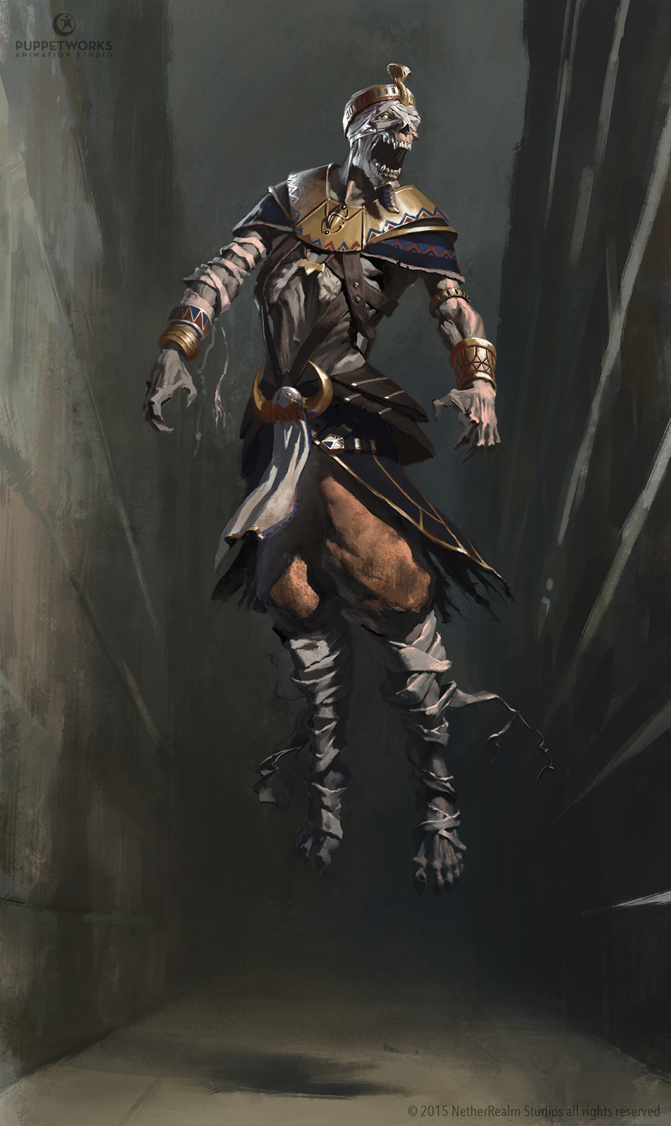 Mk11 Human Reptile concept art. I Tried to make him scary