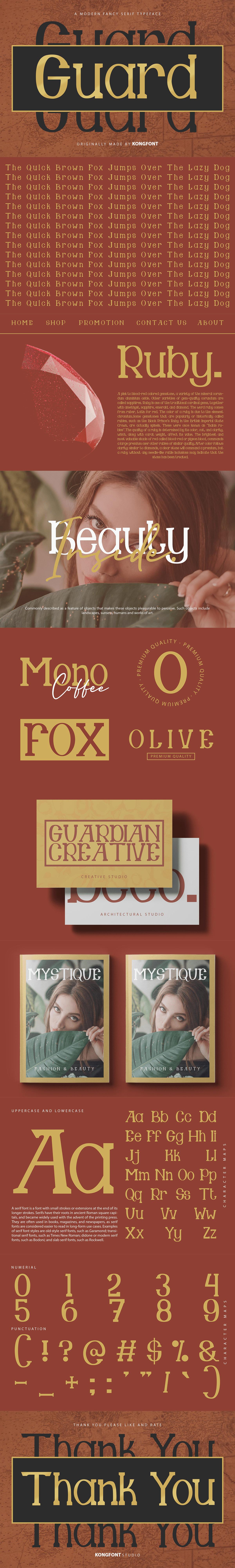 brand branding  font guard Landmark Logotype serif Unique