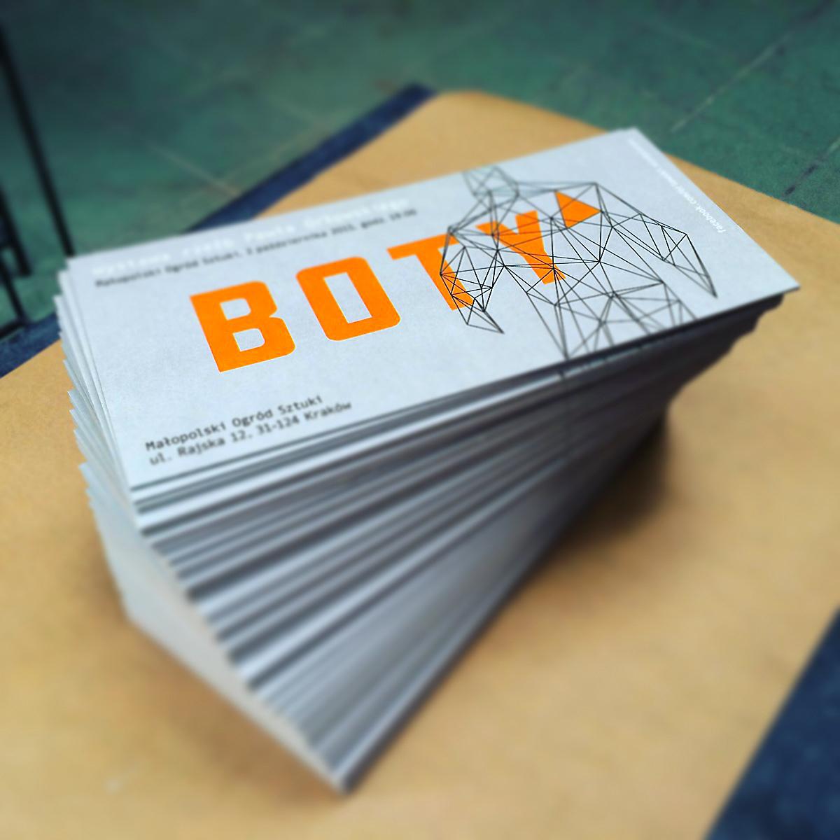 art Invitation poster print Exhibition  boty   orlowski.sculptures
